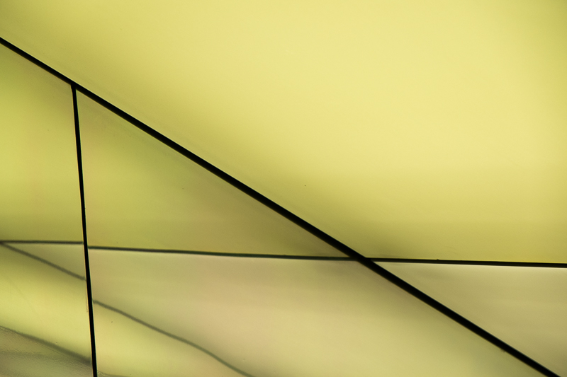Angular abstract with green-and yellow colors