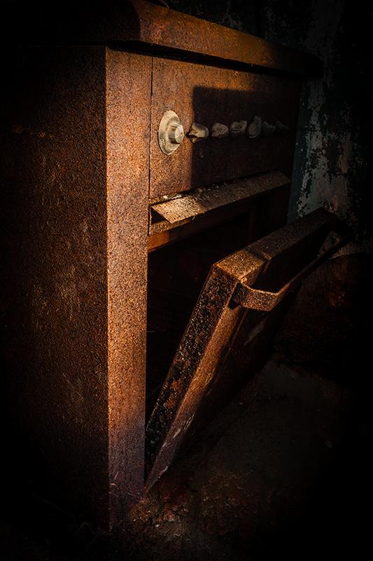 Rusty oven door
