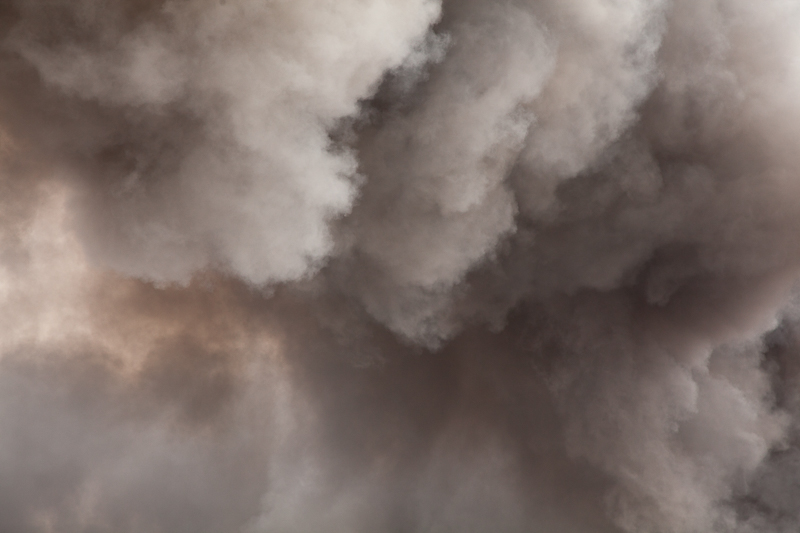 Soot plume close up
