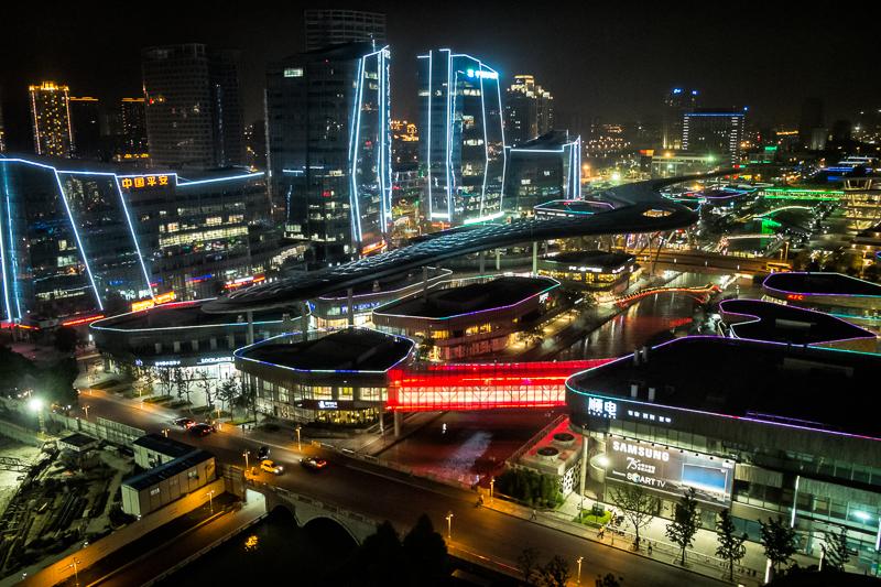 Suzhou night lights from Intercontinental hotel window.