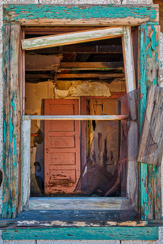 Looking thru a Eureka Ghost Town window