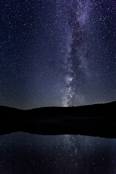 Spruce Knob Lake West Virginia night sky with the Milky Way